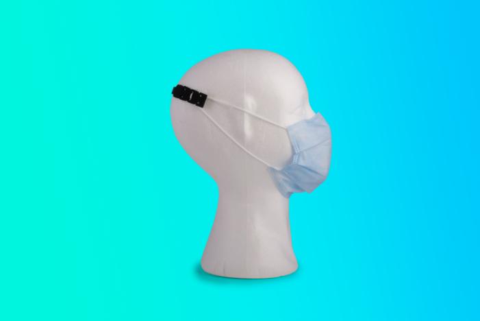 Gancio in silicone per mascherine