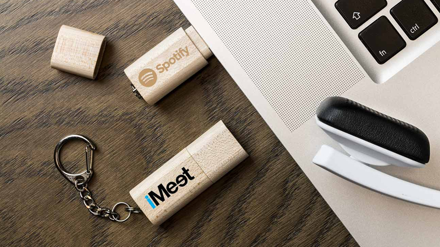 Chiavette USB in Legno/Bamboo